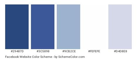 Facebook color palette