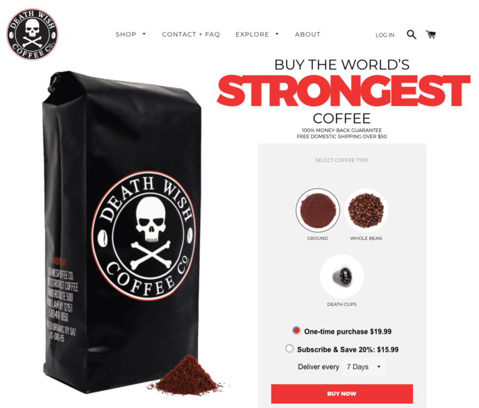 Death Wish Coffee Competitive Positioning