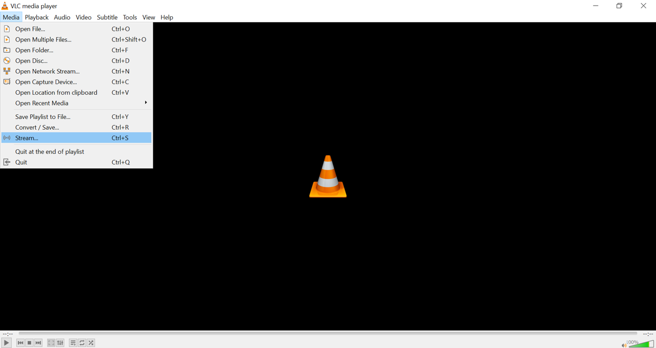 Stream video in VLC