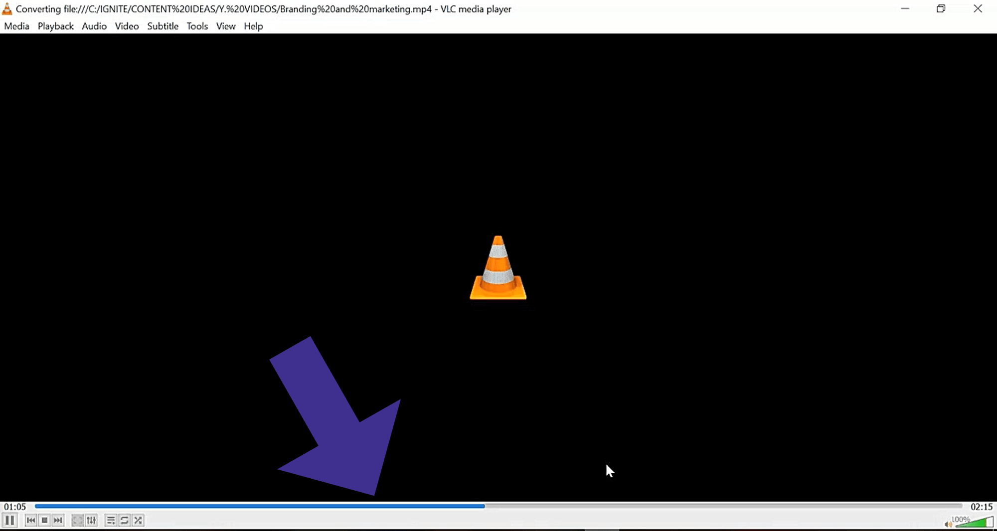 streaming video in VLC