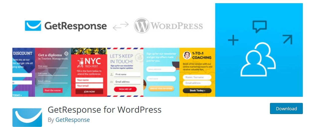 wordpress email plugins getresponse
