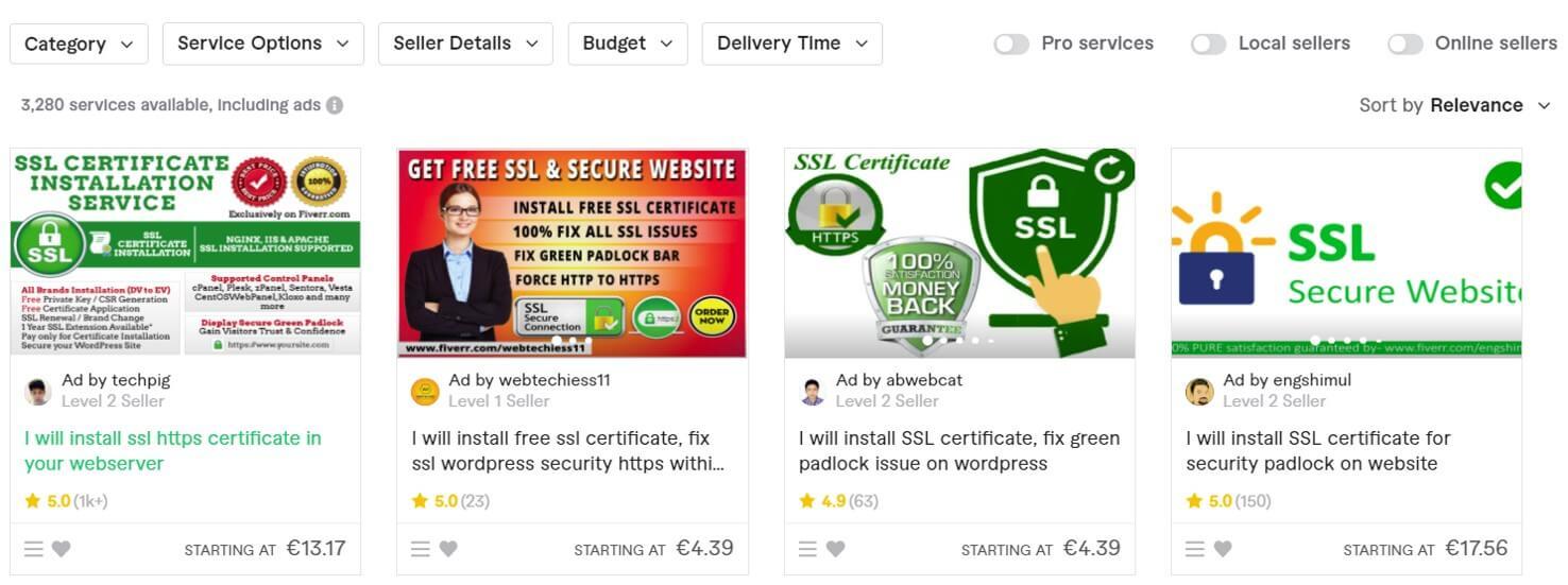 Fiverr install SSL certificate
