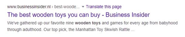 google keyword research blog page