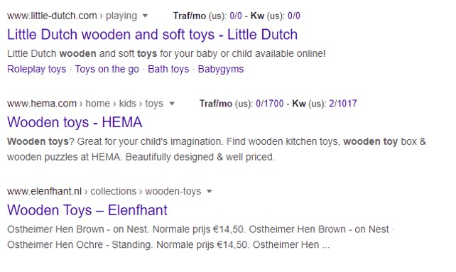 google keyword research pages