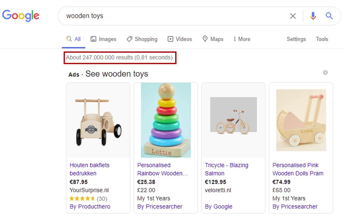 google results keyword research