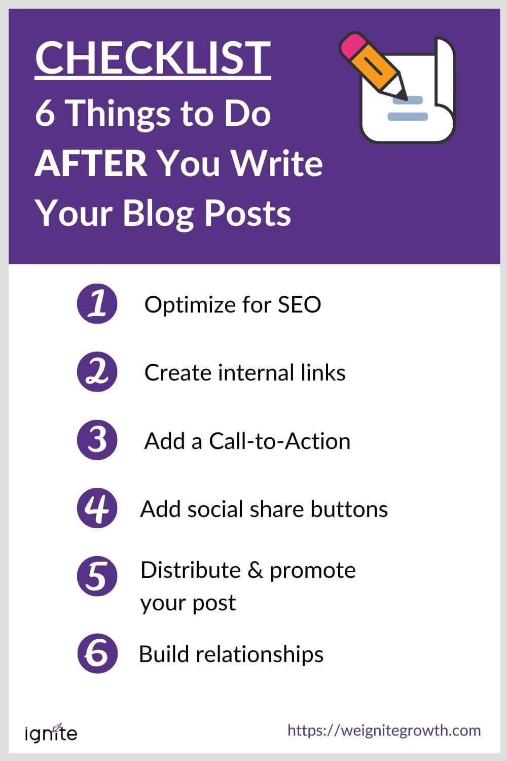 CHECKLIST 7 Things to Do AFTER You Write Your Blog Posts