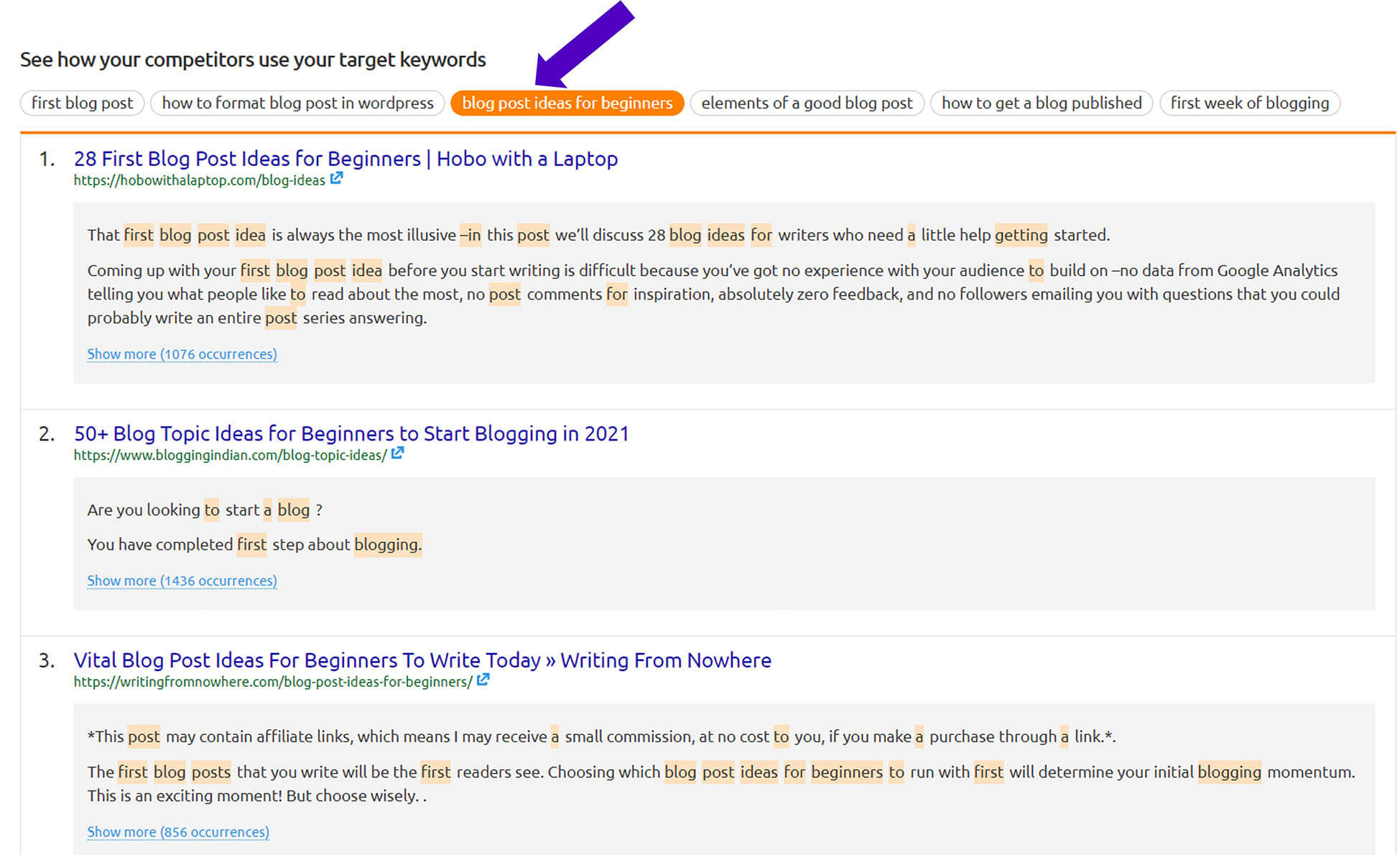competitor use target keywords 2 R