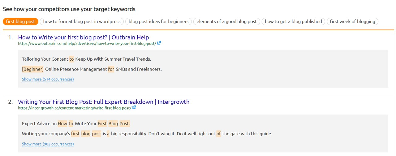 competitor use target keywords